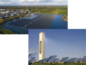 referenzen, Sonnenwärmekraftwerk oder Solarwärmekraftwerk solarthermisch, Photovoltaik, PV, Verkabelung, Thermomanagement, Wärmeübergang